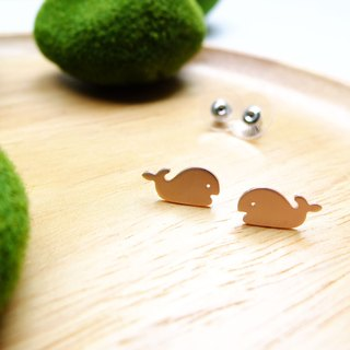 Earrings tiny WHALE