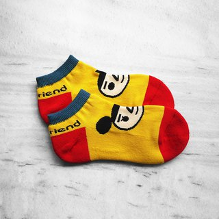 [BestFriend] Logo Knit Socks / Brand Classic Socks / Spectrum Yellow