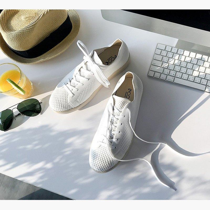 (男款)城市旅人休閒鞋/白