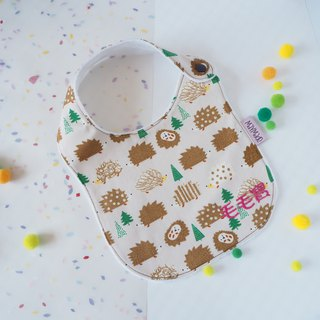Hedgehogs pattern Handmade Bib