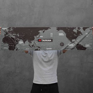 Make World Map Manufacture of Sports Towels (Grayscale)