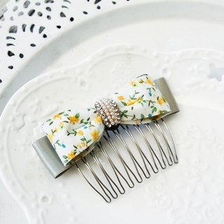 Pastoral wind simple bow hair comb