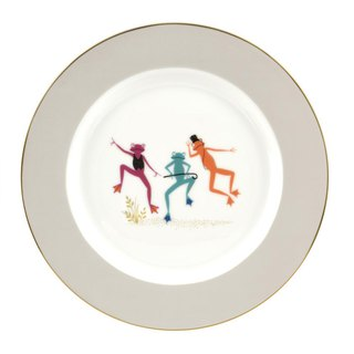 Sara Miller London for Portmeirion Piccadilly Collection Cake Plate - Frogs