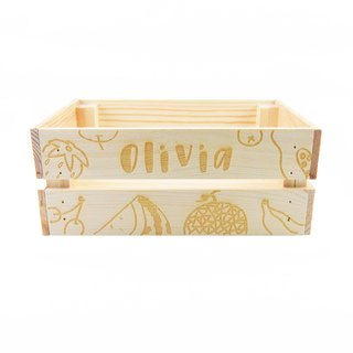 Custom name wooden box - fruit section