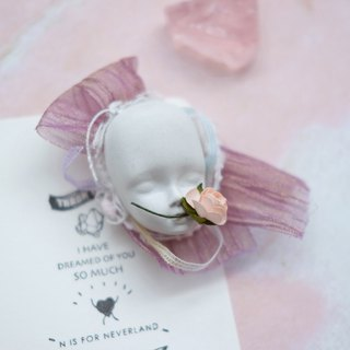 Vanessa retro Baroque Lolita niche hand made custom antique baby face cement brooch