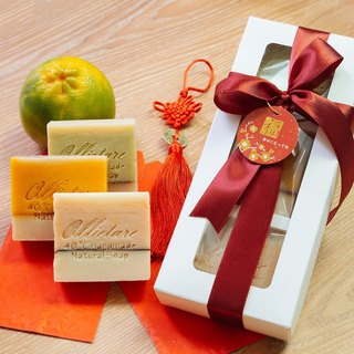 Fragrance 3 into the goat milk soap gift box / wash your face, wash your hair, wash your body with three moisturizing soaps