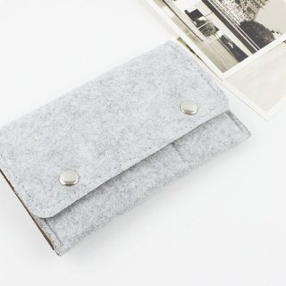 Customized Light Gray Felt Cover Felt Cover iphone 8 iphone XS Max -045