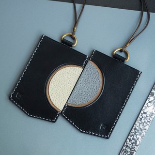 <Full Moon> Genuine Leather Card Holder (a pair)