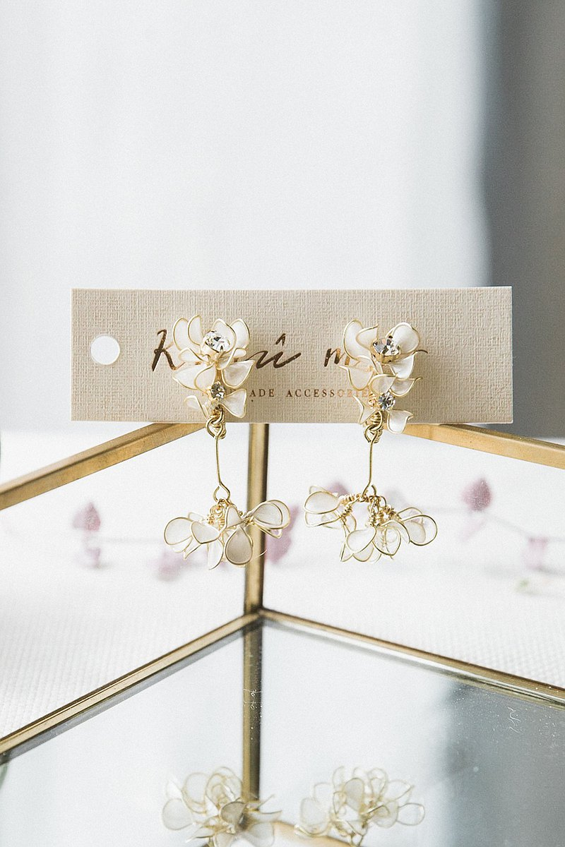 Xing Bai Xiao Peng skirt dangle earrings ER049 party banquet x bride earrings x bridesmaid girlfriends gift