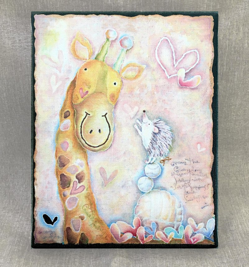 Canvas art print with hand-painted・my special place