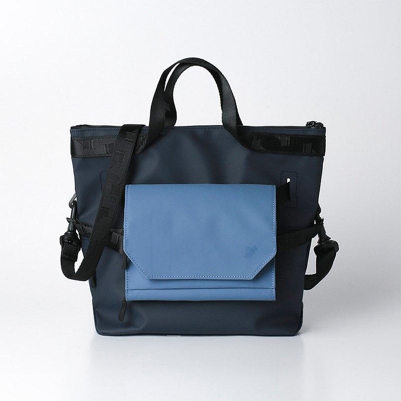 Entadar 超核心斜背 側背包 後背 三用組合 藏青-大+顏色自選-小