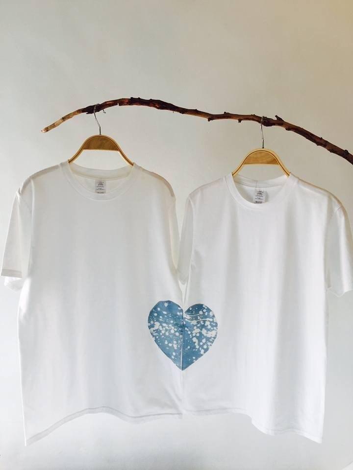 自在染isvara 藍染友善大地 純棉 難得有情人T-shirt