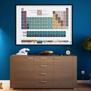 <A0> Steady Earth Chemistry Chinese and English periodic table poster