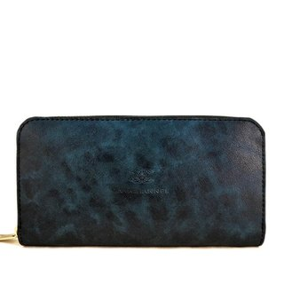 Indigo Blue Antique Zip Around Wallet