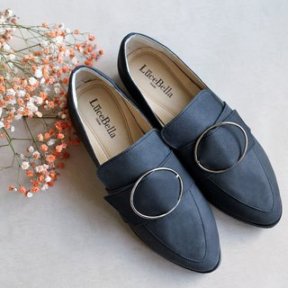 [Winter Elf] wide-necked pointed shoes _ black