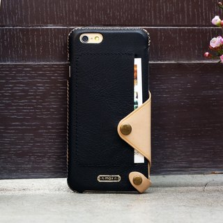 iPhone 6 PLUS /6S PLUS / 5.5 inch Minimalist Series Leather Case - Black