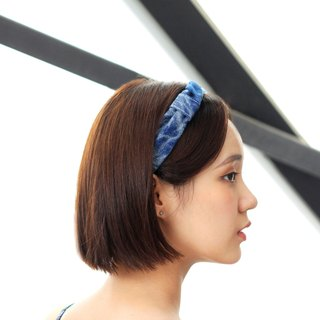 【The MAMA's Closet】Two Colors Denim Cotton (Vintage Look) / Classic Headband