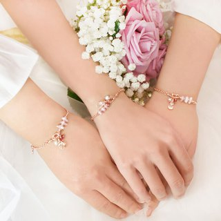 Goody Bag-闺蜜礼物*Rose White Crystal Purple Lithium Custom Bracelet 3 into the group*Bridesmaid Gift*Custom