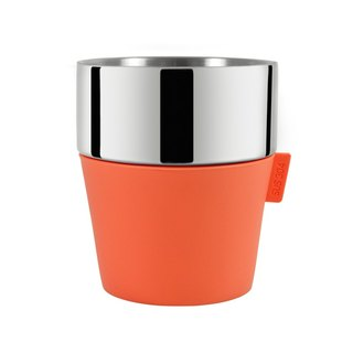 Driver Double Layer Coffee Cup 350ml - Pretty Orange Party Cup, Picnic Cup