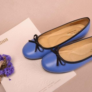 Handmade doll shoes blue sky