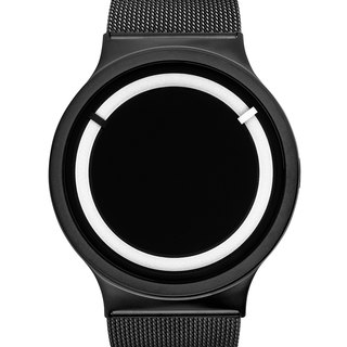 <Glow> cosmic eclipse watches ECLIPSE Steel (black and white, Black Snow)