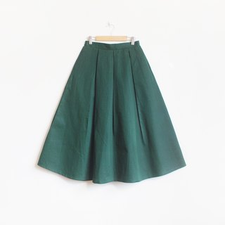 cotton flare skirt : green