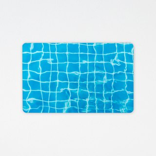 Swimming pool | Wafer leisure card (customize your favorite text)