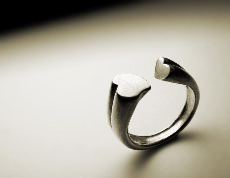 雙愛心戒指