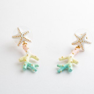 Starfish Coral Earrings