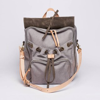 Waxed Canvas Backpack / Urban Jungle Backpack / L / Light Grey