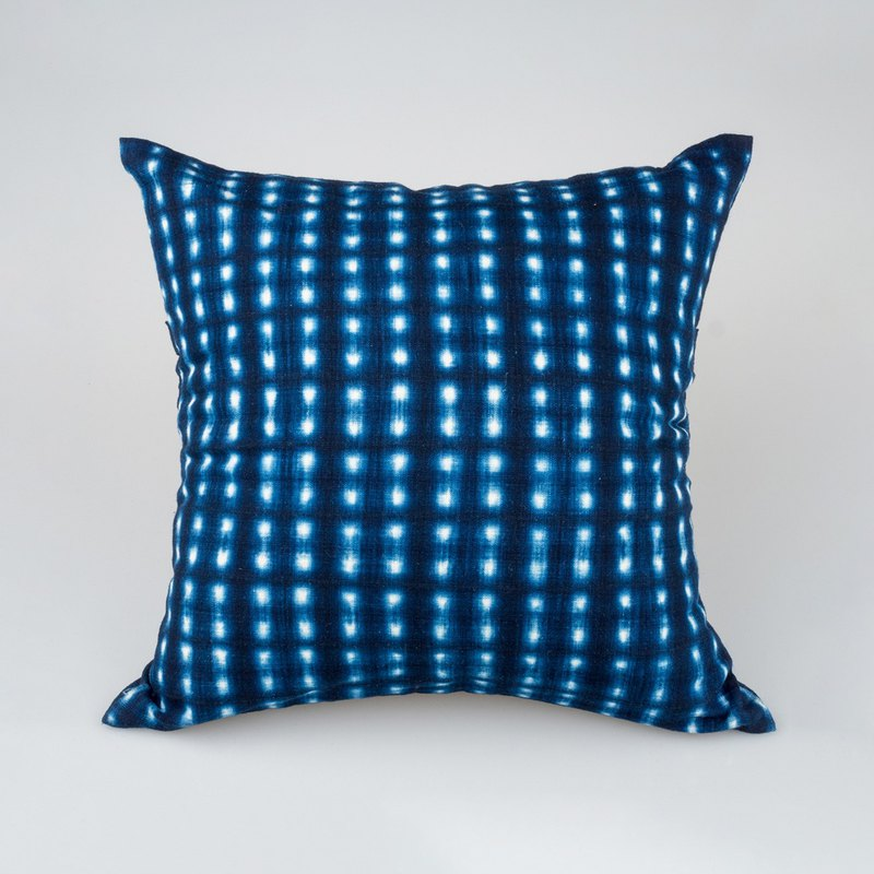 Naturall Dye Indigo Linen Pillow -