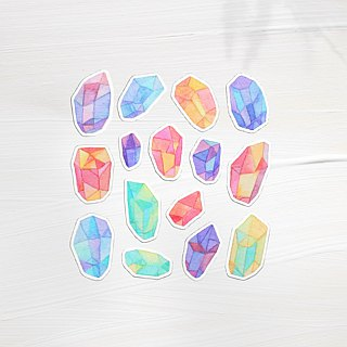 Ore hand painted watercolor stickers 15 into