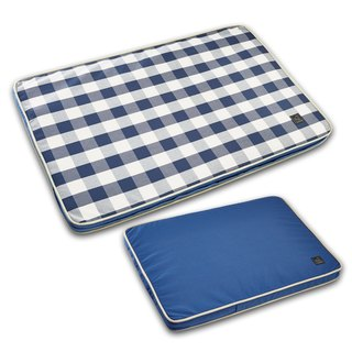 Lifeapp Pet Relief Sleeping Pad Large Plaid---L (Blue and White) W110 x D70 x H5cm