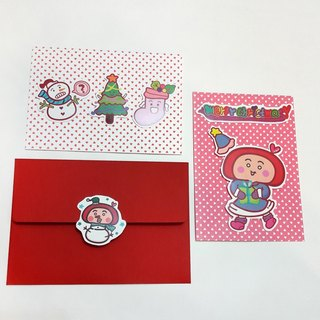 【POPO ABBY】 Christmas sticker card  Lovely day /  Purple