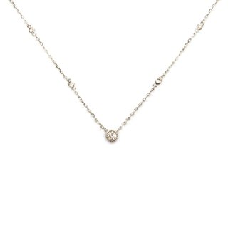 Willpower Conscious Ball Round Pendant Necklace in Sterling Silver