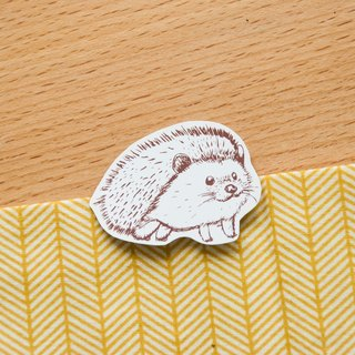 [Animal series # 1 monochrome hedgehog coloring sticker pack 5