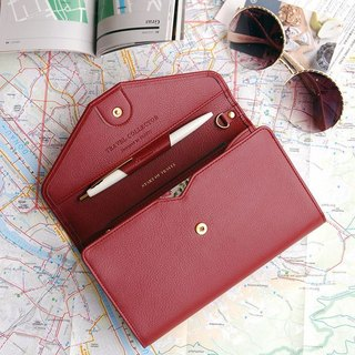 PLEPIC Travel Collector Passport Envelope Bag - Bogen Red, PPC93082