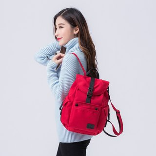 The Dude Brand Hong Kong after the body of water repellent leisure backpack small backpack ultralight Mini Mad - red