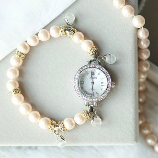 Restock # 2nd MS. OPHRA ladies bracelet watch with alphabet (Orange Pearl) New dial.
