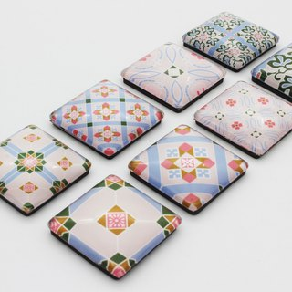 Taiwan Tile Magnet Group--Spring Flower Bloom