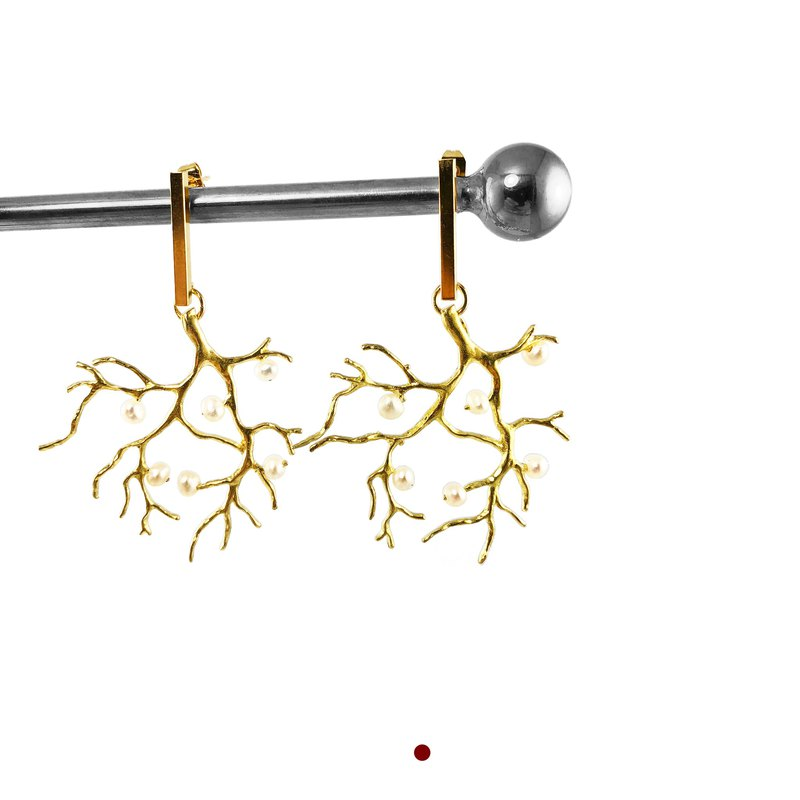 Magnificent - 【Big Tree】14kgf Earrings  【CORAL Earrings】New Year Gift