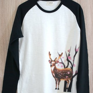 Taiwan Sika Deer (Plum Blossom Buck) Long Sleeve Long Sleeve Tee (Men's)