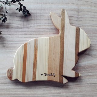 [Original.] Wood color good food _ hand-made wooden meal board (rabbit)