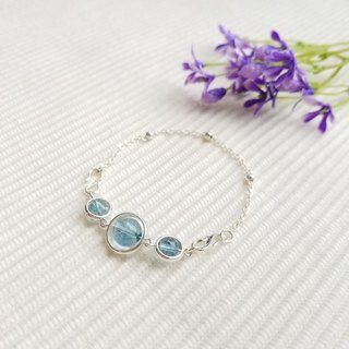 Natural Ice Aqua Crystal Bracelet