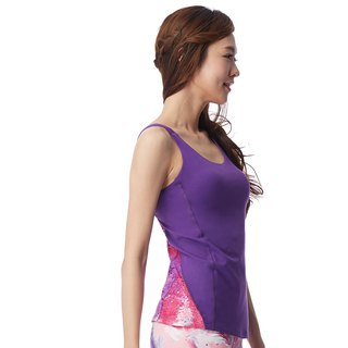 [MACACA] Brilliant and elegant back 沁 vest - AUE1412 Grape Violet / Peach Violet
