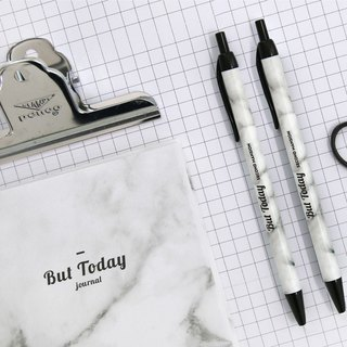 Second Mansion 0.38 Planetary Oily Ball Pen V1-02 White Marble, PLD63955