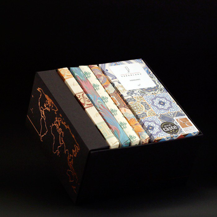 JAKUB PIATKOWSKI CZEKOLADA Black Chocolate Five Regions Gift Set