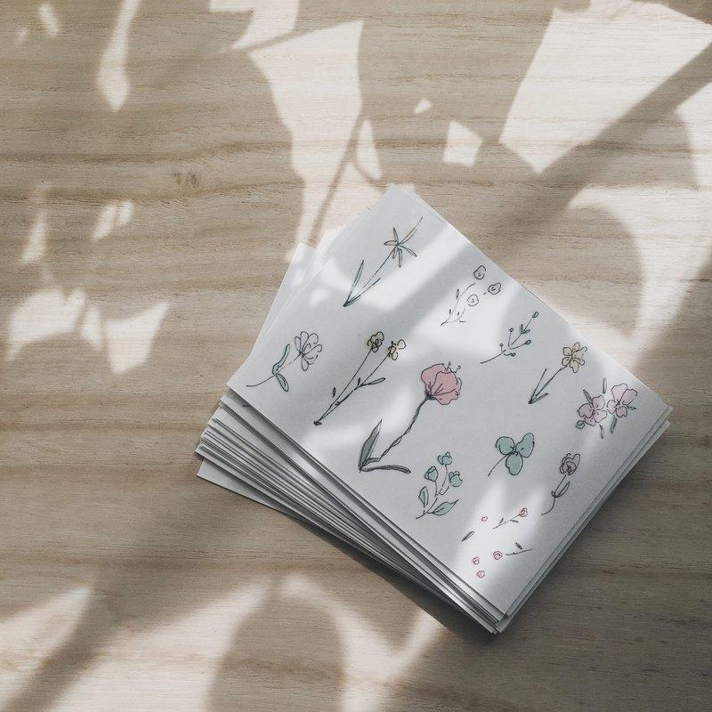 野花紋身貼紙粉彩