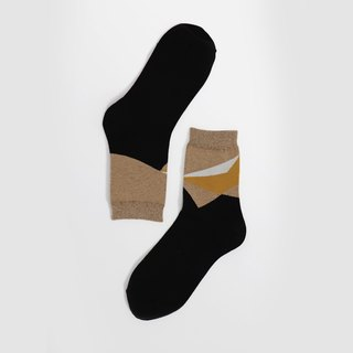 [Select All-Delete] OutOfOffice / Irregular Geometric Socks / Black / Socks