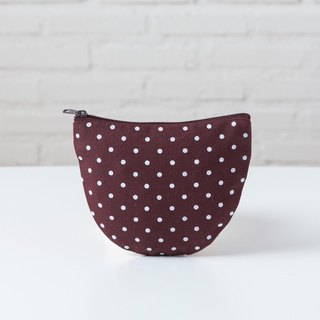 Curvy Bag S  Dot Brown